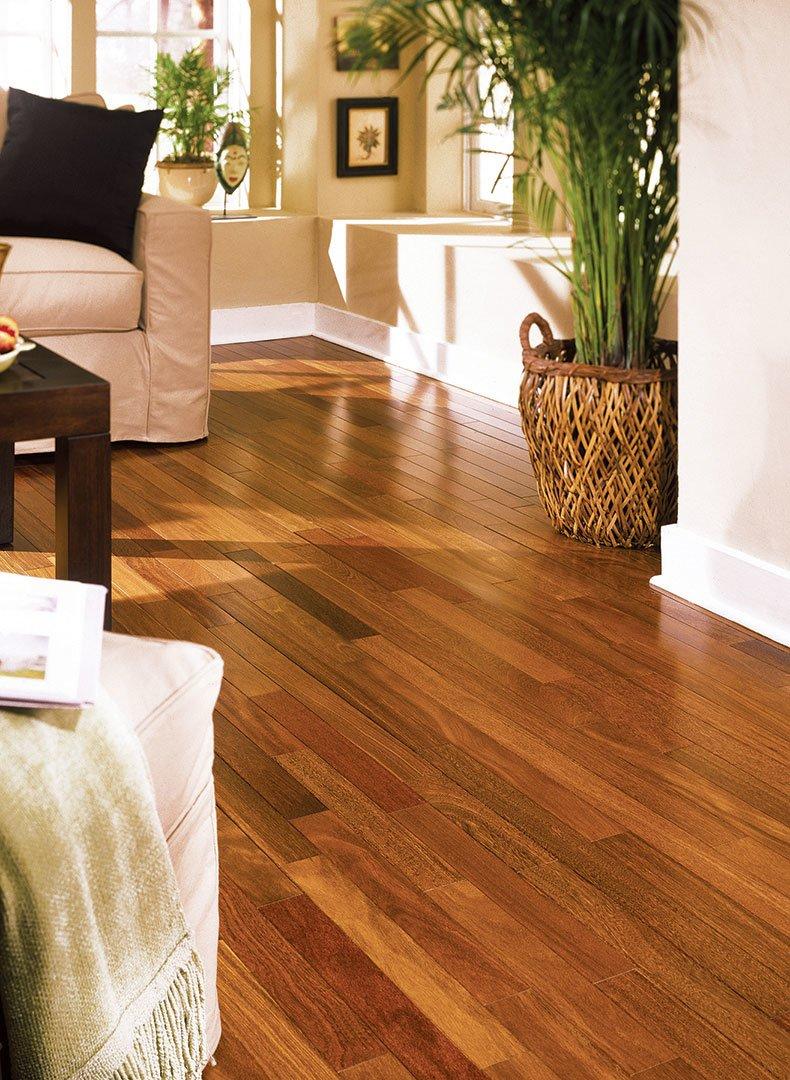 Hardwood canada brazilian chestnut sucupira natural aa for Hardwood floors toronto