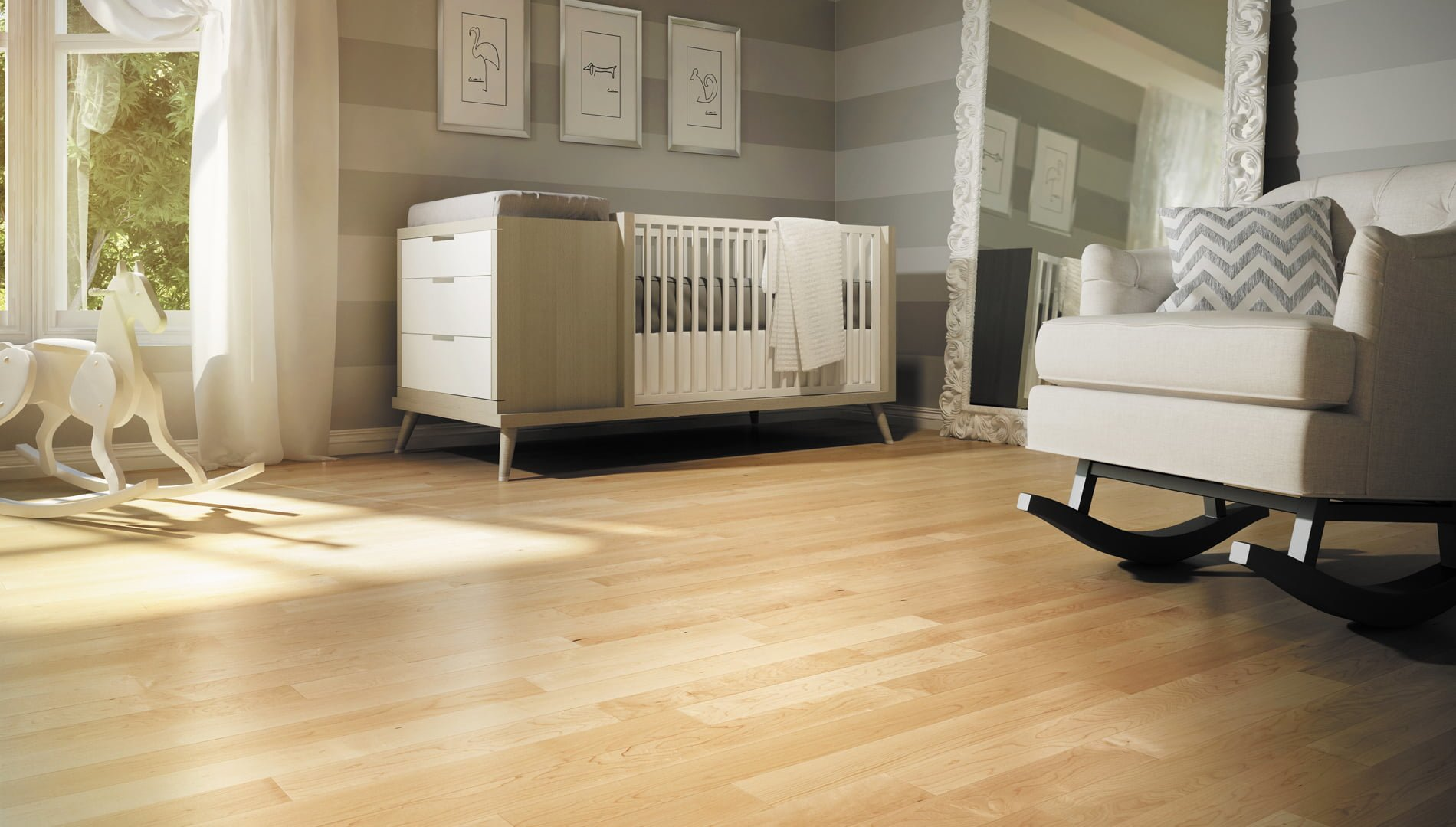 Lauzon ambiance collection hard maple natural aa floors - Hardwood floors in bedrooms or carpeting ...