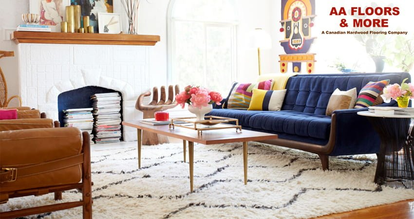 Area rugs can protect vinyl flooring